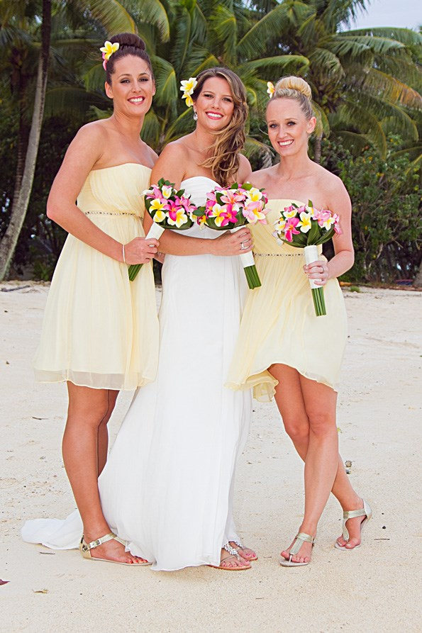 Samantha with her bridesmaids Jennie and Amanda