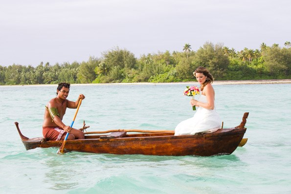 Samantha was paddled to shore by waka