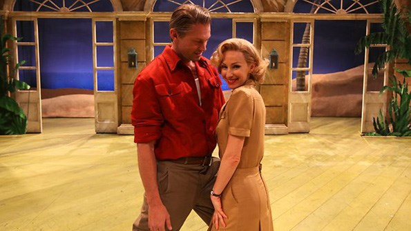 The cast of South Pacific say sparks have been flying between Teddy and Lisa on and off stage