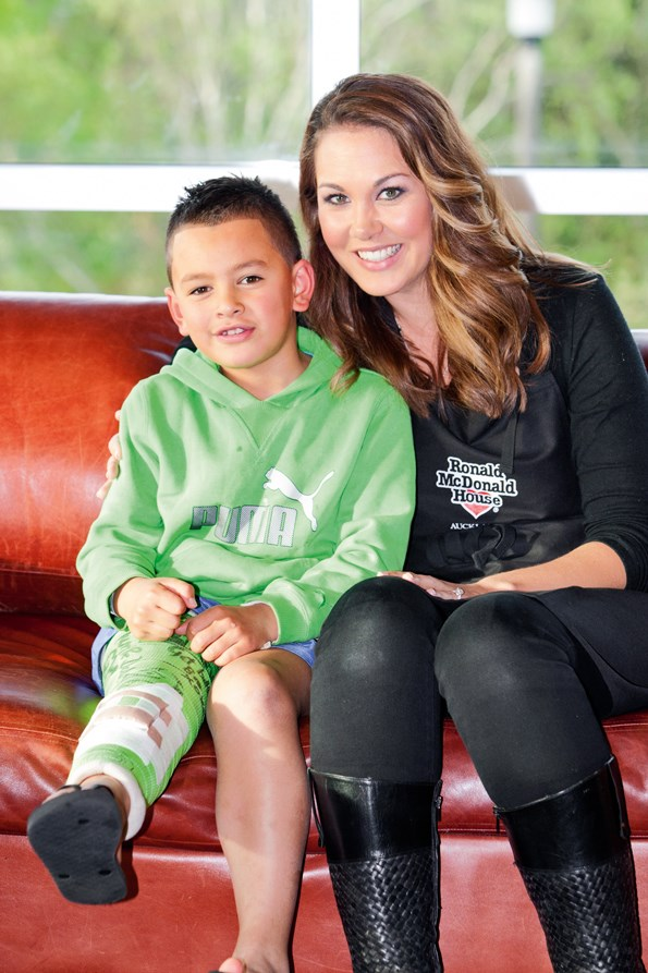 Renee has supported Ronald McDonald House and kids like Keanu for years.