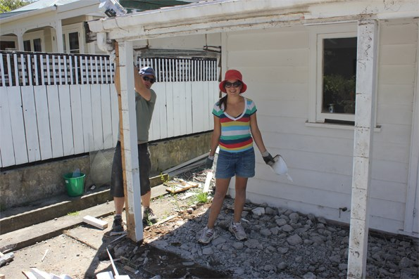 Rachel says she was naive about the amount of work involved in the backyard project, which took her and Brad five months to complete.