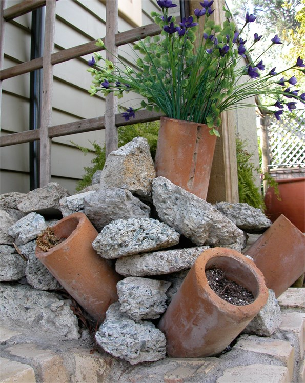 Not everyone's cup of tea, but an innovative idea in a rustic garden and a great example of creative recycling.