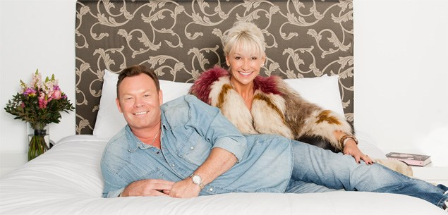 Ali Campbell and wife Julie