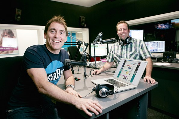 Dynamic duo: Jason and co-host Dave Fitzgerald.