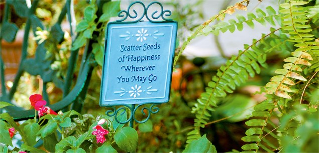 Accessorising your garden with signs