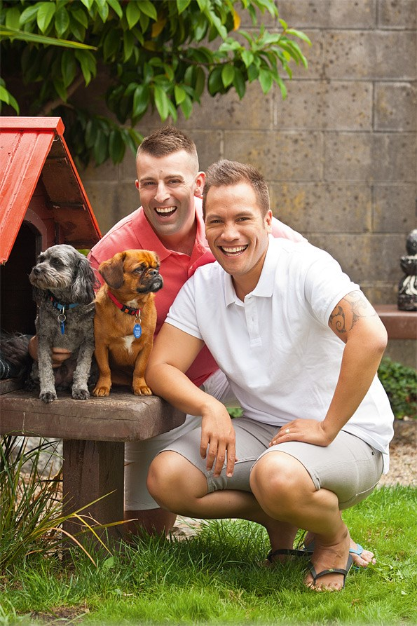 When Tamati and Tim return from their OE, the couple hope to settle down somewhere their 'babies' – dogs Ali and Anzac – can run free.