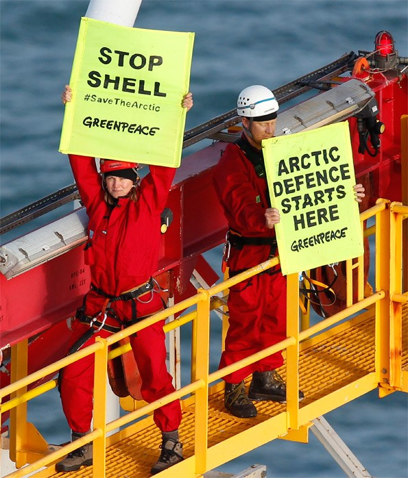 Lucy and a group of protestors boarded and spent four days on a Shell oil exploration ship at Port Taranaki in February.