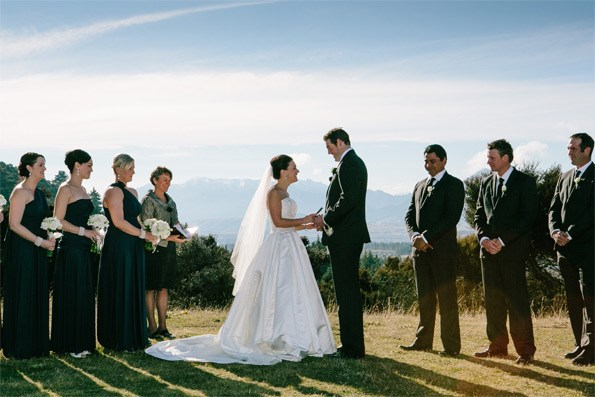The couple was married at the dramatic hillside location of Criffel Station near Wanaka – the same picturesque site where Tom proposed to Jacque.