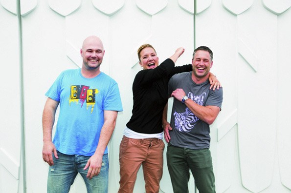 The troublemaking trio – Stu, Hayley and Marc – say they bonded instantly