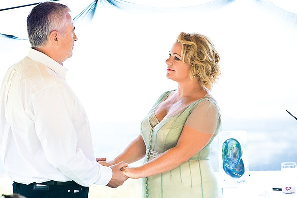 The intimate ceremony was shared with around 40 guests who enjoyed a day of love and laughter with the pair.