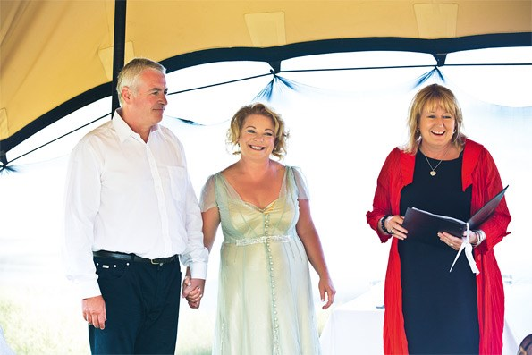 Celebrant to the stars Kay Gregory kept the mood light and romantic.