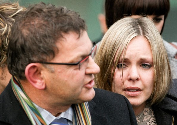 An emotional Anna after Ewen was found not guilty in 2012.