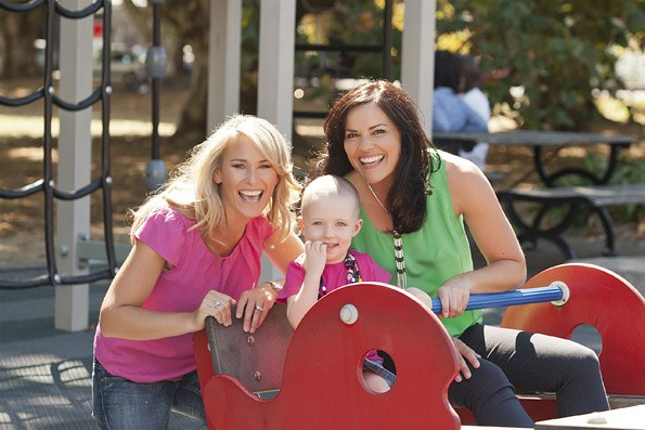 """When I first became a mum it was important for me to have a sounding board in other mums – it's the same for kids with cancer and their families,"" says Bernadine, who is mum to Maisie (5) and Scarlett (3)."