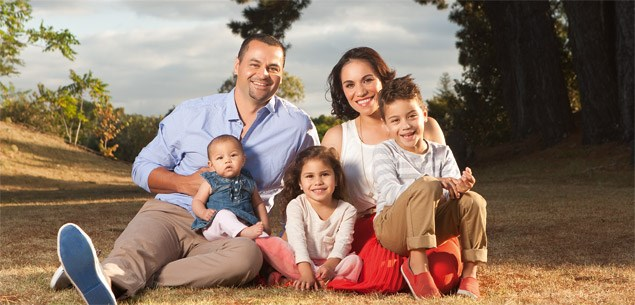 Stacey Morrison and family - Raising Hope