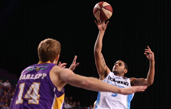 Corey Webster of the Breakers shoots during game two of the NBL Semi Final series between the Sydney Kings and the New Zealand Breakers at Sydney Entertainment Centre on April 1, 2013 in Sydney, Australia. (Photo by Mark MetcalfeGetty Images)