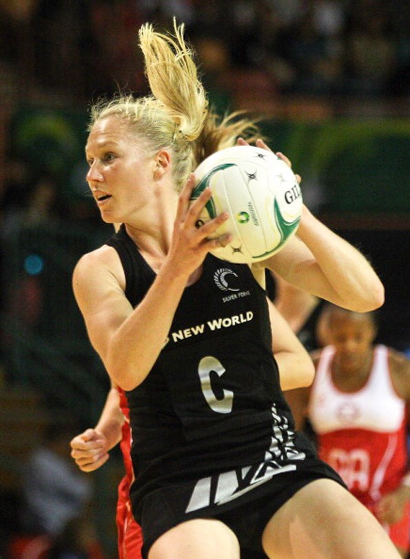 Silver fern Laura has a full season of netball ahead of her this year. PhotoTony FederGetty Images