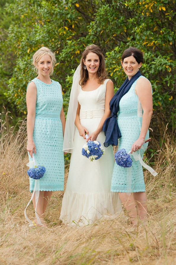 Julia's bridesmaids were sister Lisa Kamali (left) and friend Leigh Kissick. PhotoMichelle Hyslop