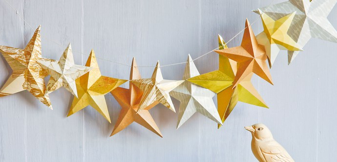 Craft:  Star garlands