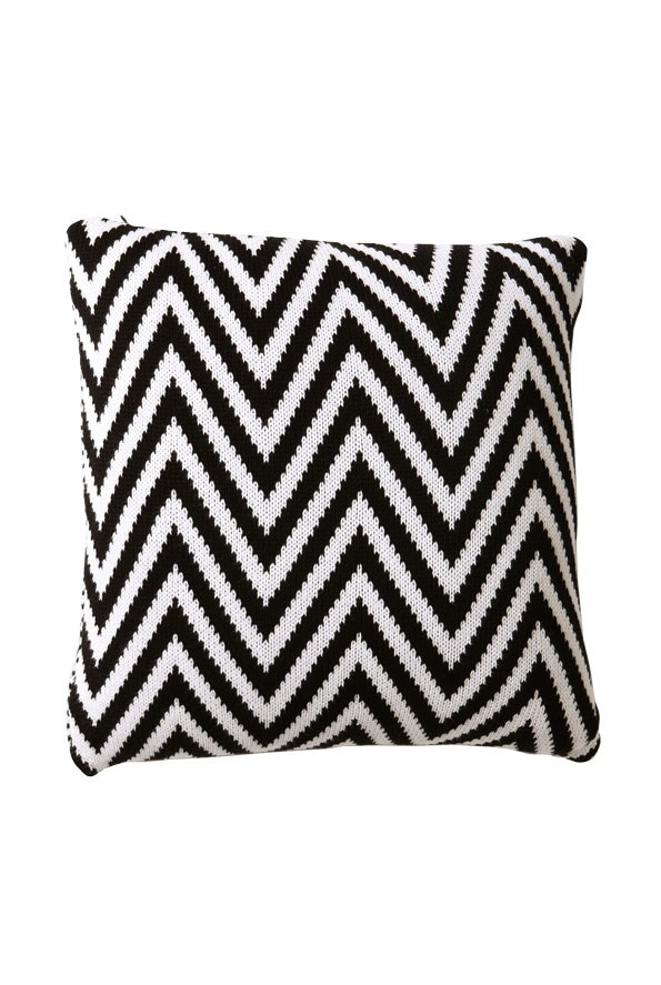 Knitted ZigZag Cushion $79.90 from Witchery