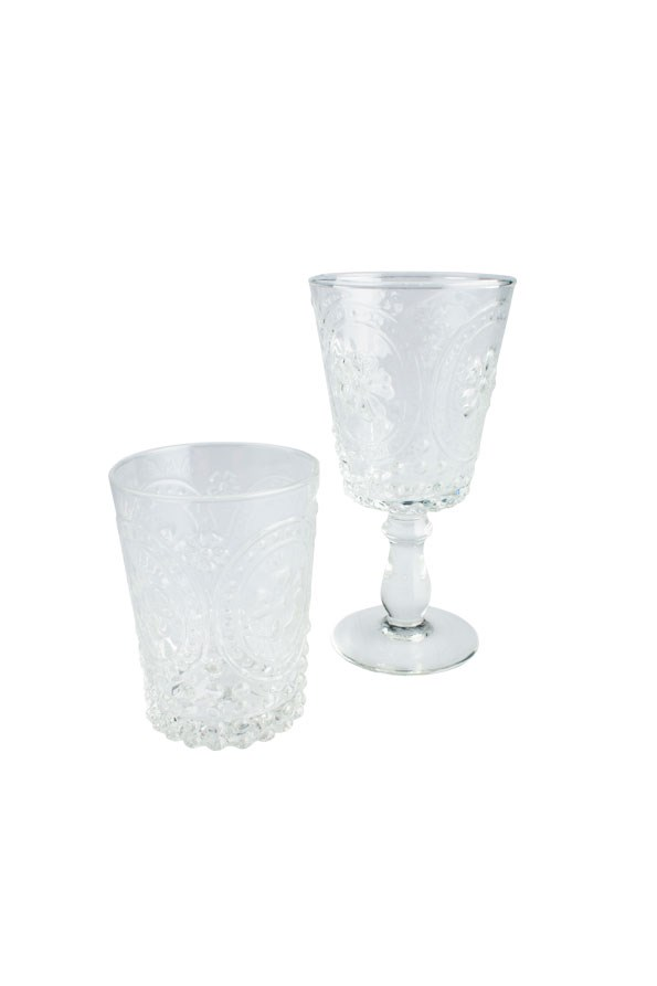 Tumbler Glass $12.50 and Wine Glass $14 from REDCURRENT