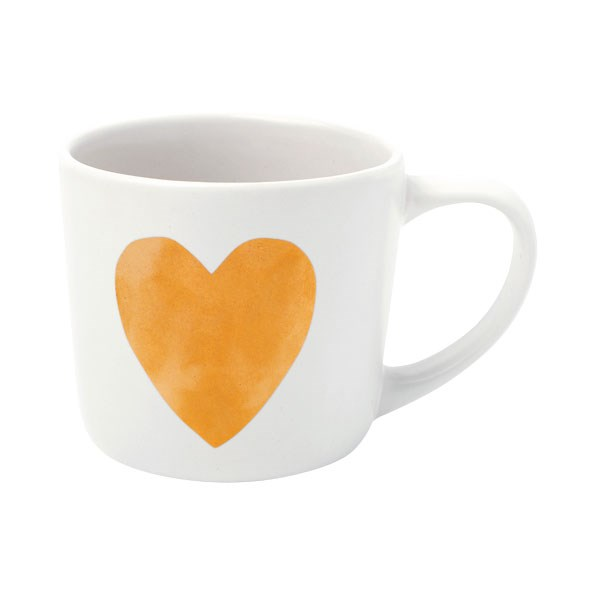 Ceramic heart Mug $12.90  from KIKKI.K