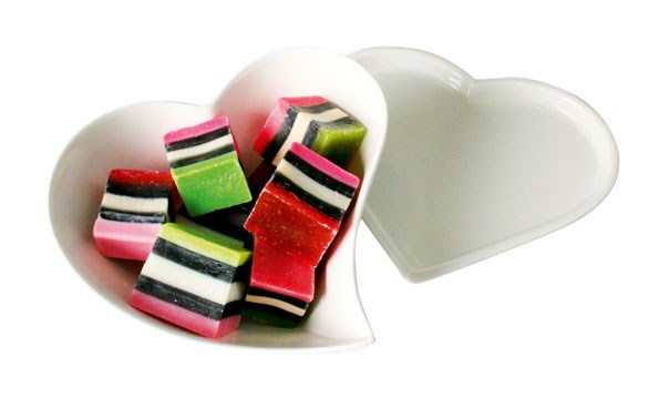 Heart-shaped bowl $25.90  and plate $12.90 from CHAMBERS
