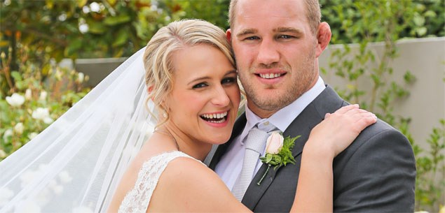 Owen Franks weds Emma Vieceli