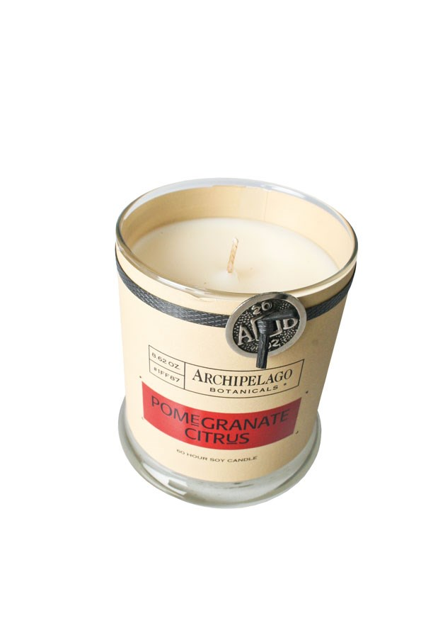 Archipelago Candle in Pomegranate Citrus $59.90 from CHAMBERS