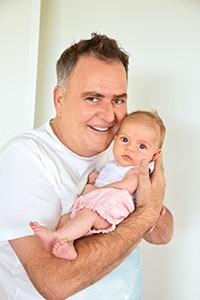 Simon Gault with baby Hazel