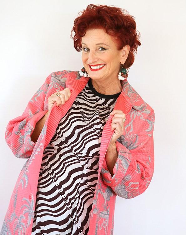 Like her personality, Peta's wardrobe is bursting with brightness.