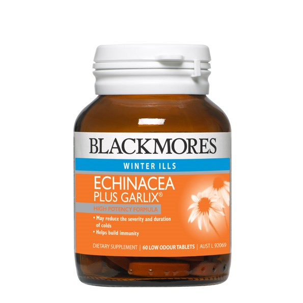Help your body resist cold and flu germs it encounters at home and work with  Blackmores Echinacea + Garlic 60 capsules, $27.70.The capsules are specially coated to ensure the garlic isn't released until it reaches the intestines, meaning no nasty odours.