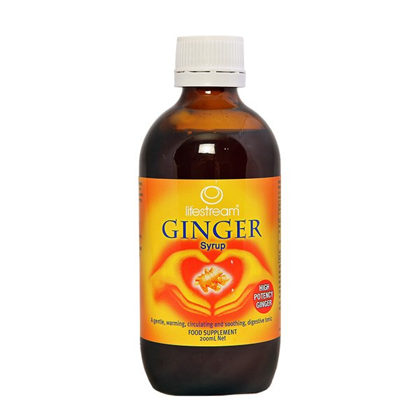 Lifestream Ginger Syrup 200mls, $29.90, helps give fast relief from coughs and colds by warming the body, increasing circulation and enhancing absorption of nutrients into the blood stream.  Mix a dessertspoon of the syrup with hot water for a soothing 'hot toddy'.