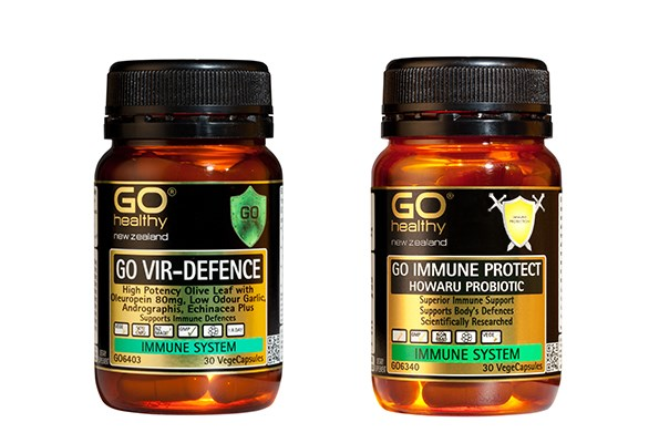 GO Healthy GO Vir-Defence ($29.90) and GO Immune Protect ($29.90).