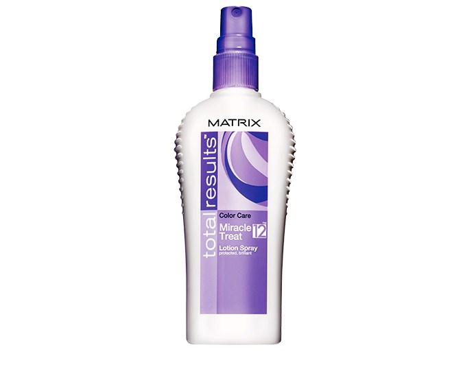 UV protection  Protect hair from free radicals and UV rays. The sun's rays fade colour and free radicals can damage the integrity of your hair, making it appear faded and tired. Try Matrix Total Results Color Care Miracle Treat 12, $19.
