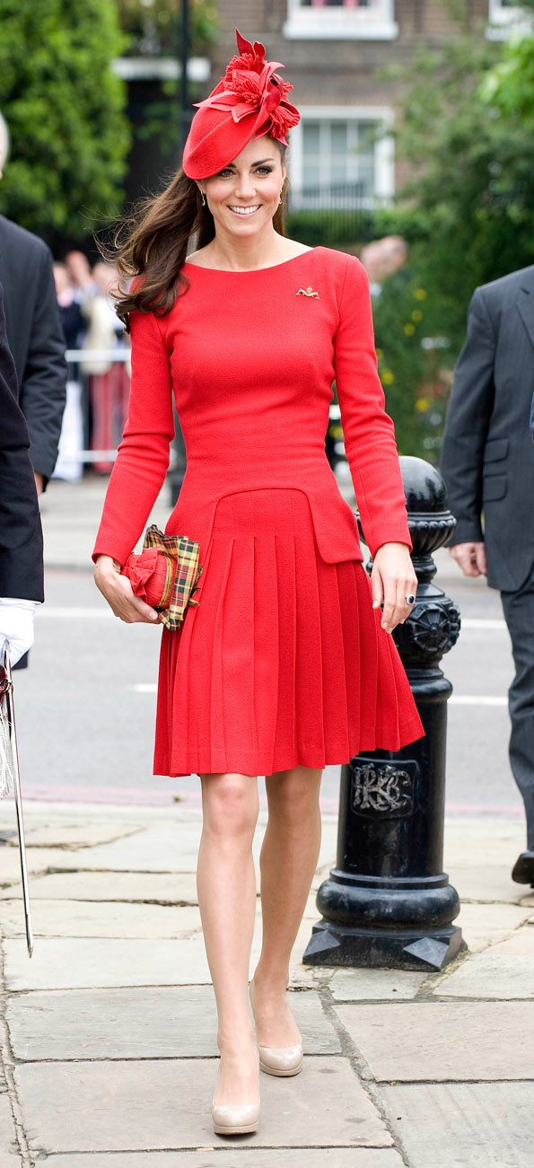Kate isn't afraid to make bold colour choices, as she showed when she wore this Alexander McQueen dress at the Diamond Jubilee Pageant in June last year.