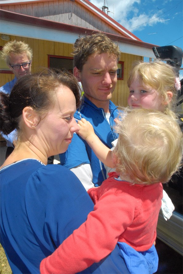Alastair is reunited with his wife and daughters.