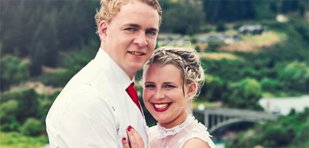 Wedding couple Rebekah Martin and Caleb Wolfreys
