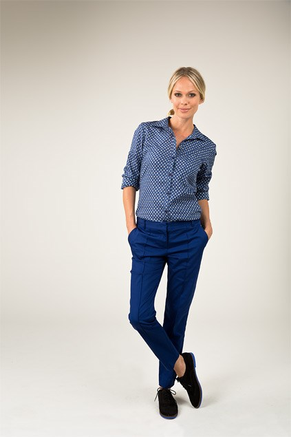 Master shirt $139 (8-16) from Ketz-ke. Chino pant $109 (4-16) Country Road. Jennie loafer $189.90 from Overland.
