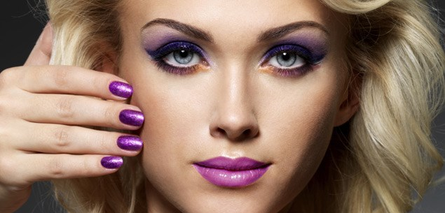 Autumn makeup trend: Purple reigns