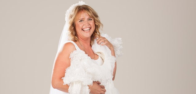 Here comes the bride: Vivian Ball