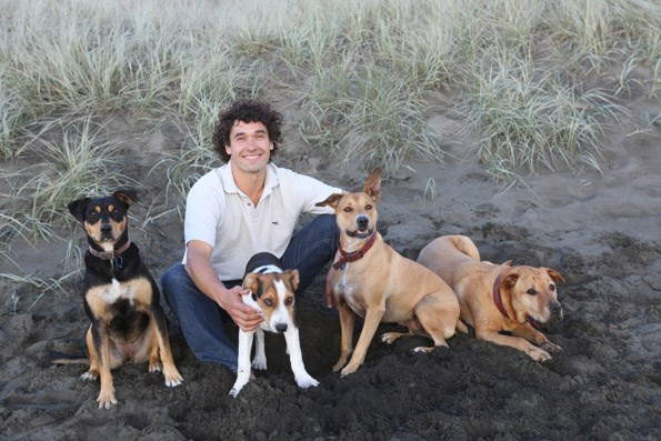 Dan could happily take on 20 dogs, but the thought of 20 children is not so appealing. Photo