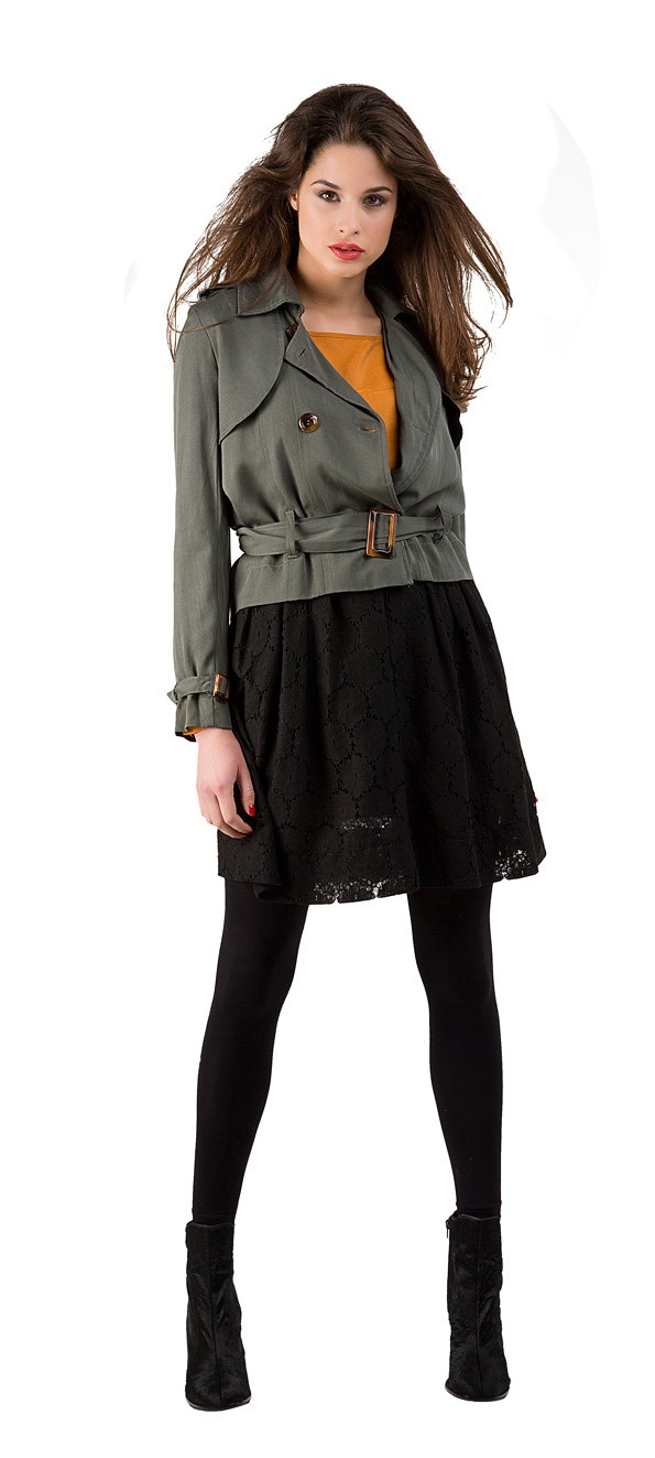 Full Skirt - WORK State jacket $199 from Kingan Jones. Edc blouse $79.90 from Esprit. Winsome boot $320 from Mi Piaci.