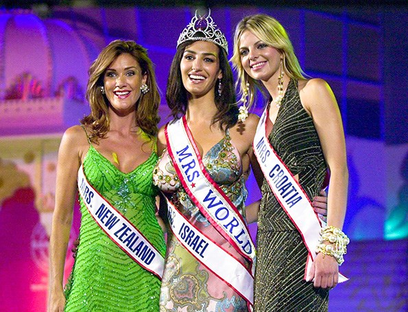 Sherin, left, was third in the 2005 Mrs World pageant.