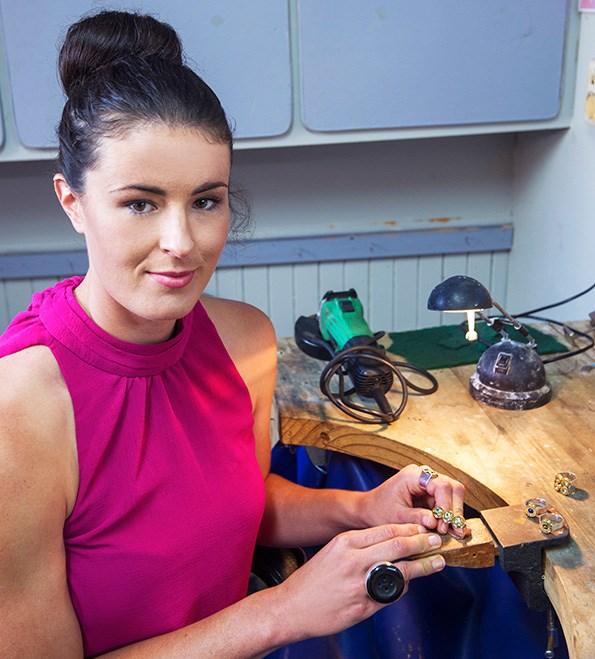 Charlotte in her studio. Photograph: Stewart Nimmo Photography