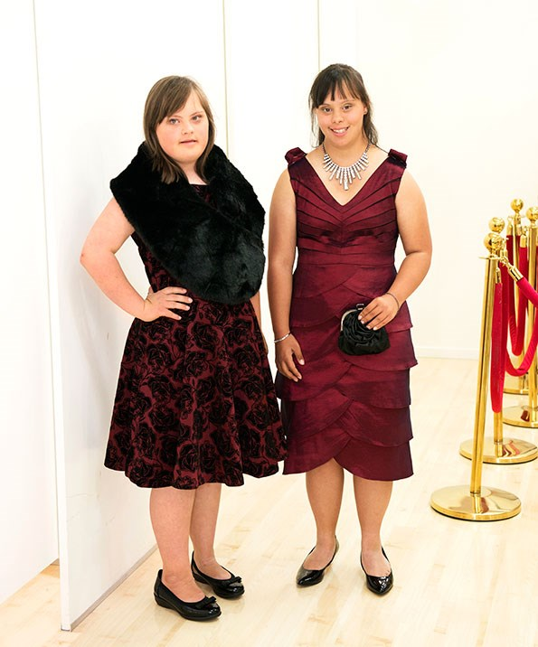 Renee (left) and Jade dress to impress in colours and styles that suit their age and stature.