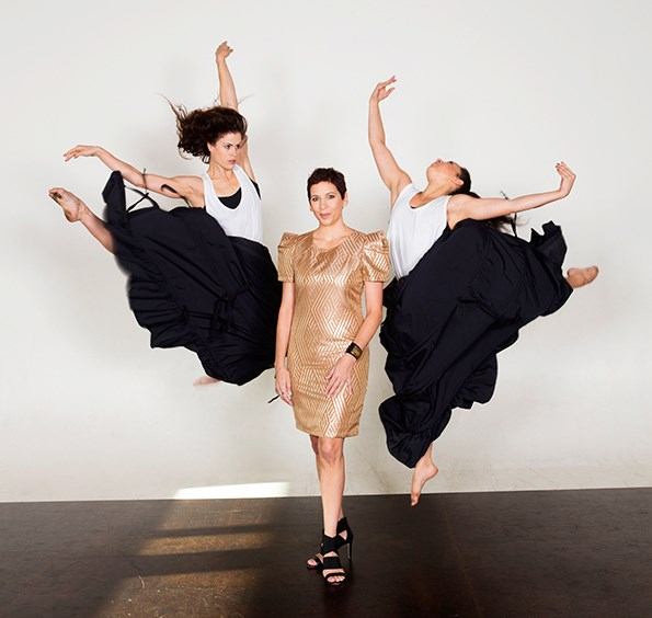 Rachael with dancers from her company Okareka.