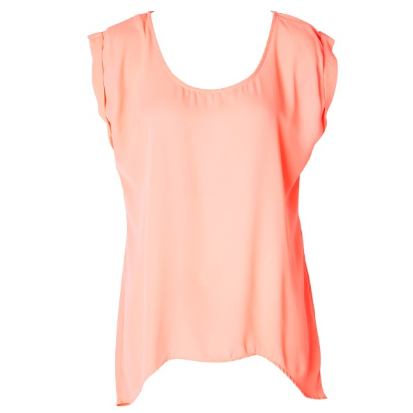 Glassons peach top, $29.99. See, glassons.com