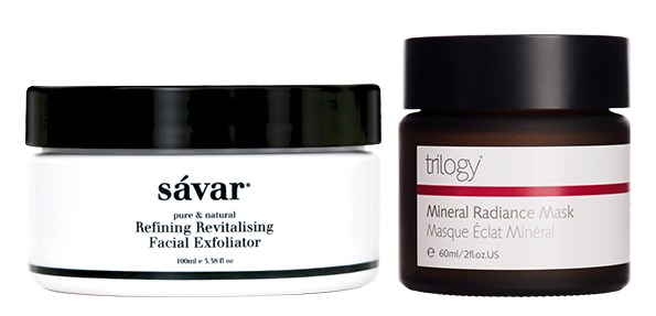Keep your skin in tip top condition this winter by exfoliating and using a mask.