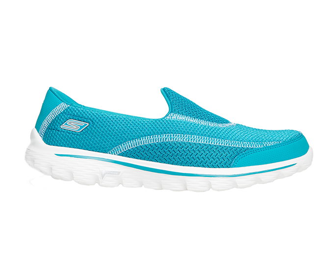 Skechers Go Walk2 Spark in turquoise, $119. 90. Available at Skechers stockists nationwide, Overland and Rebel Sport.