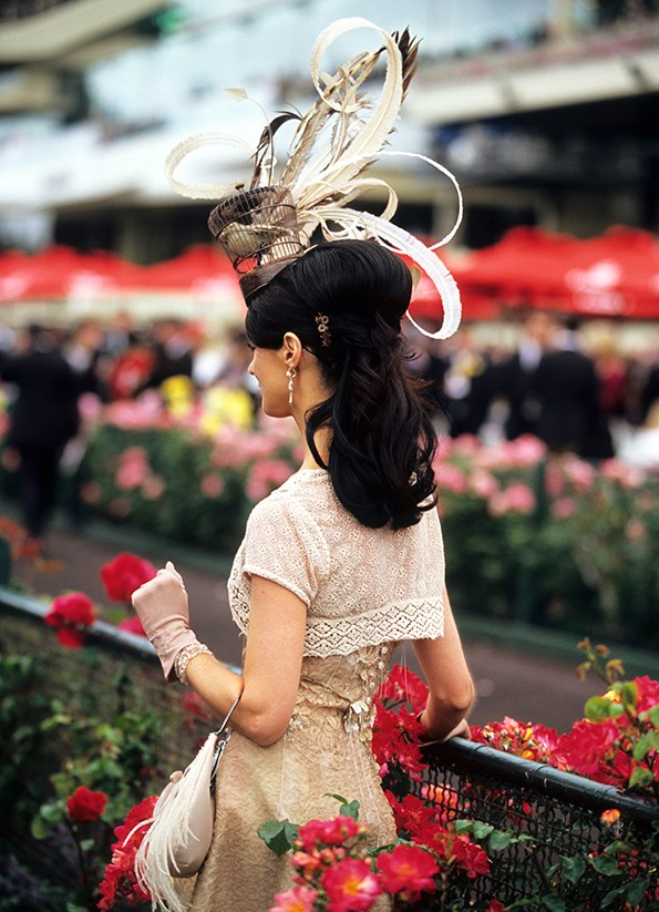 A headdresses (a fascinator or hat) is essential at Ladies Day.